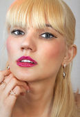 Face of beautiful blonde l — Foto Stock
