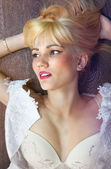 Face of satisfied young blonde — Stockfoto