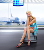 Passenger misses at airport — Stockfoto