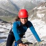 Mountain climbing — Stock Photo