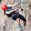 Via ferrata/Klettersteig Climbing — Stock Photo