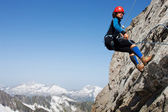 Alpine climbing — Stock Photo