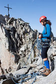 Young female climber — Stock Photo