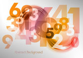 Abstract numbers — Stock Vector