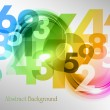 Rainbow numbers — Stock Vector