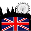 London skyline — Stock Vector