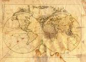 Ročník mapa světa — Stock fotografie