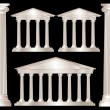 Stock Vector: Greek columns