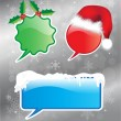 Stock Vector: Christmas speech bubbles