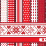 Christmas scrapbooking red — Stock Vector