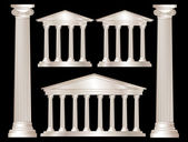 Greek columns — Vector de stock
