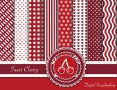 Sweet cherry digiscrap — Vecteur