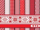 Scrapbooking de Noël rouge — Vecteur