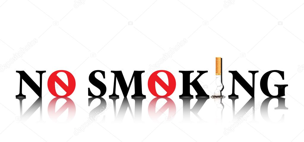 No Smoking concept with the i in smoking being replaced by a stubbed out cigarette and the o being replaced by a forbidden sign EPS10 vector format.  Stock Vector #11308313