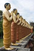 Buddhist Monk statues — Stock Photo