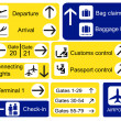Airport signs — Stok Vektör