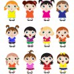 Cute kids — Stock Vector #11322950
