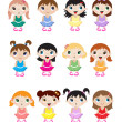 Baby ballerinas — Stock Vector #11322952