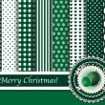 scrapbooking groene kerstballen — Stockvector