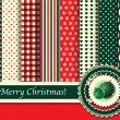 Royalty-Free Stock Immagine Vettoriale: Christmas scrapbooking retro tones