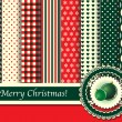 Royalty-Free Stock Imagen vectorial: Christmas scrapbooking retro tones