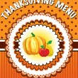 Royalty-Free Stock Vector Image: Thanksgiving Menu template