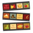 Happy Thanksgiving film strip — Stock Vector