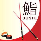 Carte de menu sushi — Vecteur
