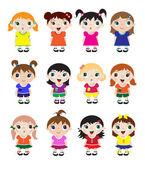 Cute kids — Stock Vector
