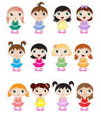 Baby ballerinas — Stock Vector