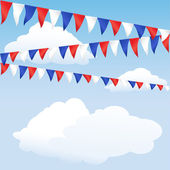 Red, white and blue bunting — 图库矢量图片