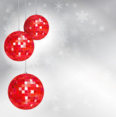 Christmas disco balls — Stock Vector