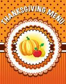 Thanksgiving Menu template — Stock Vector