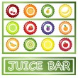 Stock Vector: Juice Bar drinks menu
