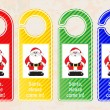Christmas door hangers — Stock Vector
