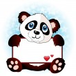 Royalty-Free Stock Vector Image: Panda with heart banner