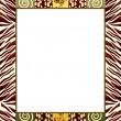 African style frame 2 - Stock Vector