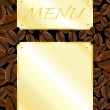 Stock Vector: Coffee shop menu
