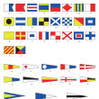 Nautical flags — Stock Vector