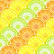Fruit slices seamless — Stock Vector