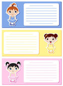 Baby ballerinas notes — Stock Vector
