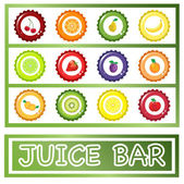 Juice Bar drinks menu — Stock Vector