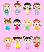Baby ballerinas Stickers — Stock Vector