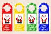 Christmas door hangers — Stock Vector