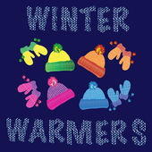 Woolly warmers — Stok Vektör