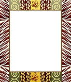 African style frame 2 — Stock Vector