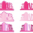 Stock Vector: Pink Bookend icons