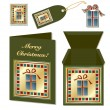 Royalty-Free Stock Vector Image: Christmas gift stationery