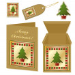 Christmas tree stationery — Stock Vector