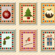 Christmas stamps — Stock Vector #11375439